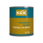 KGK – Tankoslojni lazurni premaz 0,75L